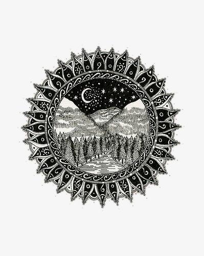圆形星月夜图片