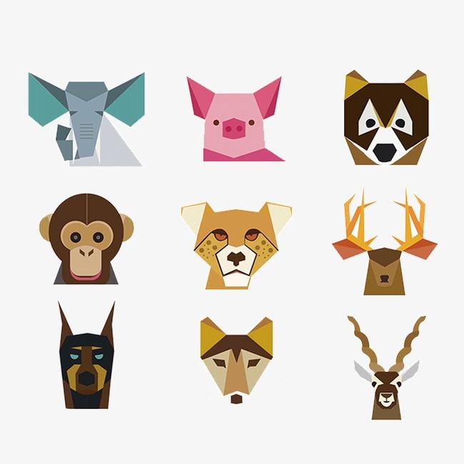 图片 > 【png】 卡通色块动物头像  分类: 类目:其他 格式:png 体积