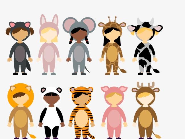 矢量动物衣服png素材-90设计
