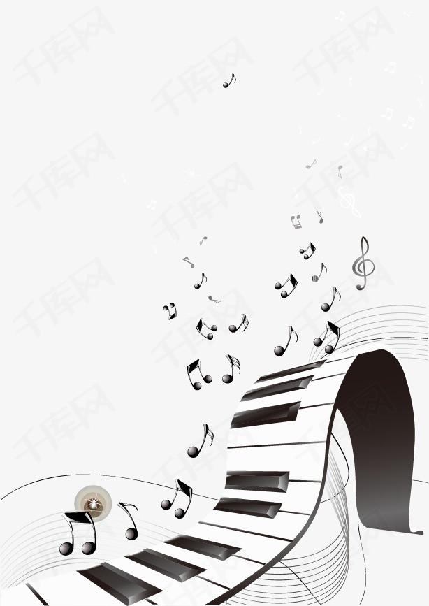 矢量手绘钢琴矢量手绘钢琴音符-矢量手绘钢琴素材图片免费下载 高清
