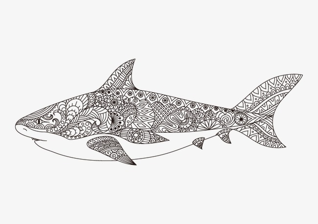 精美线性花纹动物绘画