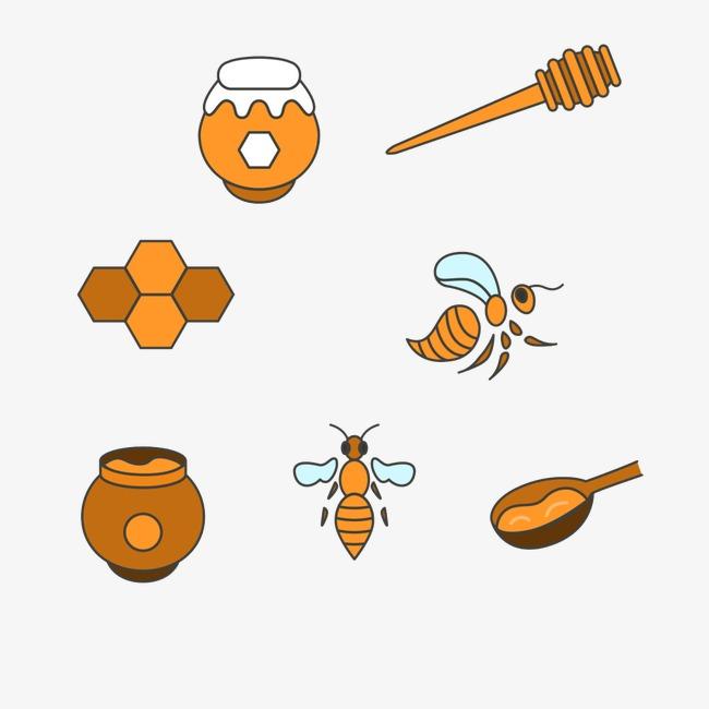 手绘蜂蜜元素
