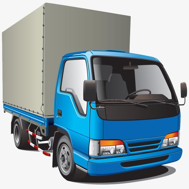 卡通手绘厢式货车矢量图案png素材-90设计