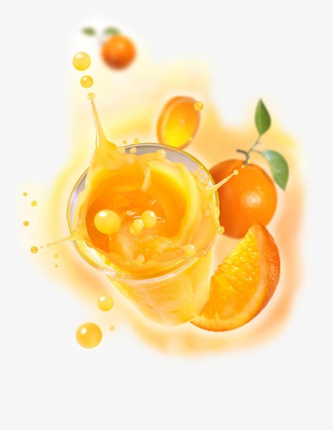 创意橙汁冷饮海报素材
