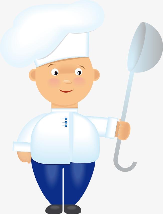 矢量小孩厨师