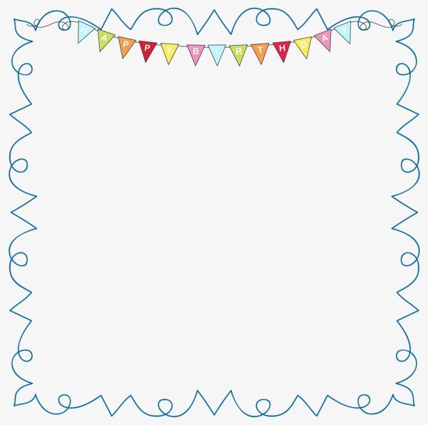 儿童手绘边框素材图片免费下载 高清卡通手绘png 千库网 图片编号3891762