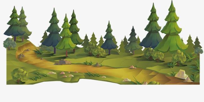 90设计提供高清png手绘动漫素材免费下载,本次卡通森林作品为设计师小