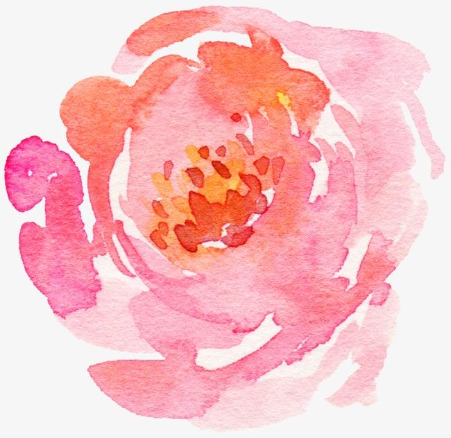 手绘玫瑰花淡彩