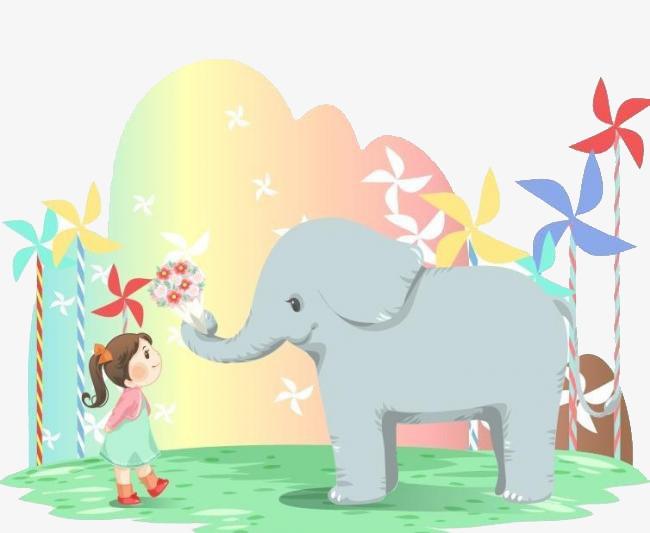大象卡通_大象png素材-90设计图片