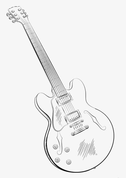手绘吉他 简约吉他 音乐 电吉他
