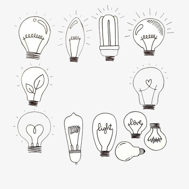 图标元素 灯泡 设计元素 ppt             此素材是90设计网官方设计