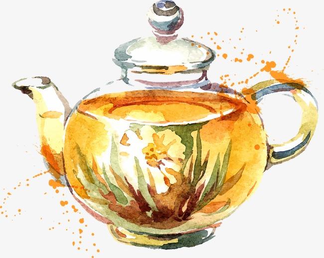 手绘矢量茶壶