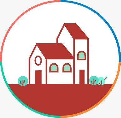 h5卡通房子素材图片免费下载_高清装饰图案png_千库网