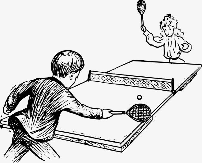 男生卡通_乒乓球 球赛 男生png素材-90设计