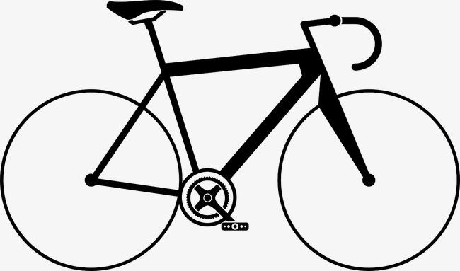 简笔画 手绘 线稿 自行车 650_383