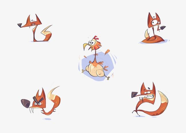 卡通手绘小狐狸图