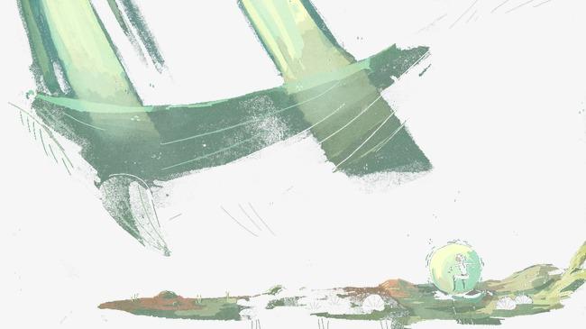手绘海豚图案