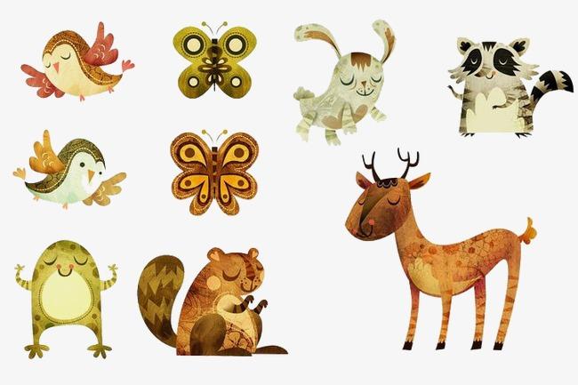 森林卡通小动物