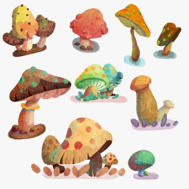 蘑菇森林素材图片免费下载_高清卡通手绘png_千库网