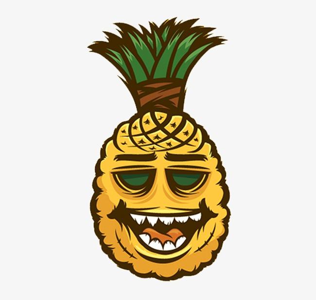 手绘卡通菠萝图片
