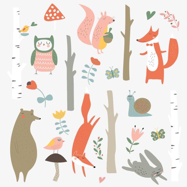 彩绘动物图案