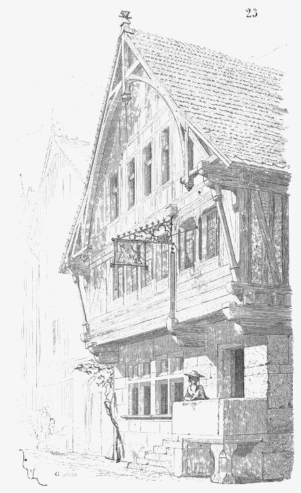 手绘古风建筑