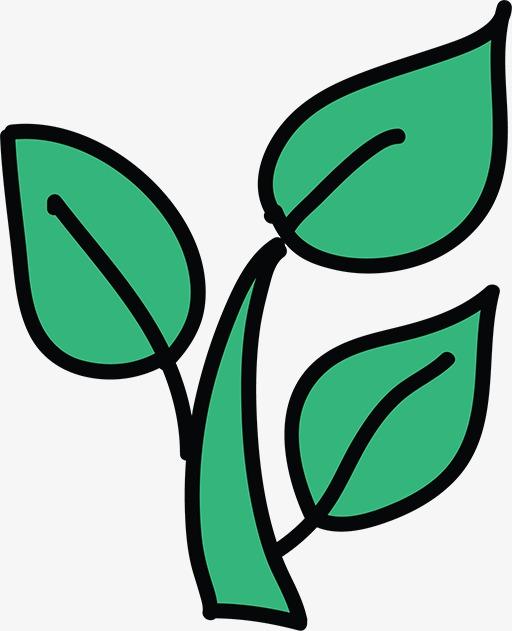 简笔画树叶图片