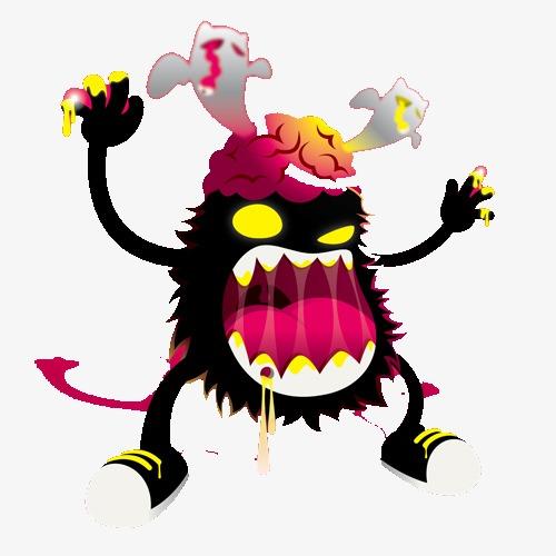 图片 > 【png】 大嘴怪物  分类:手绘动漫 类目:其他 格式:png 体积