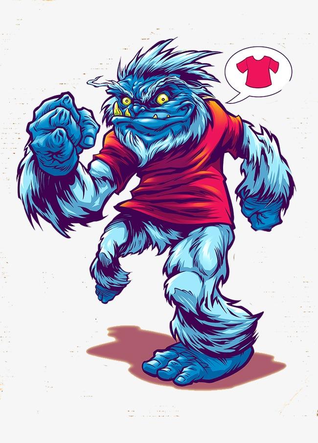 图片 > 【png】 蓝毛怪物  分类:手绘动漫 类目:其他 格式:png 体积:0
