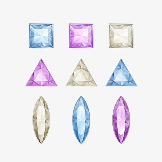 矢量背景_矢量钻石png素材-90设计
