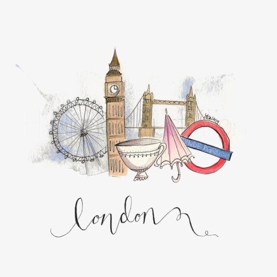 手绘伦敦标志