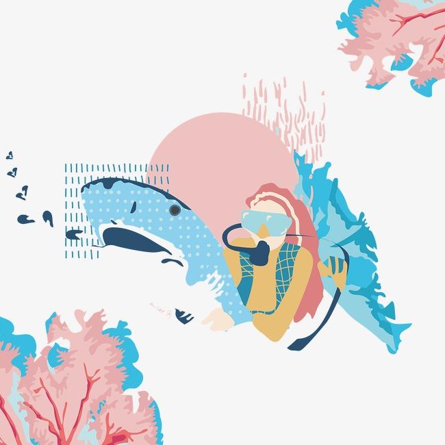 创意手绘海底世界