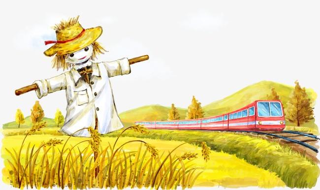 图片 > 【png】 稻田里场景  分类:手绘动漫 类目:其他 格式:png 体积