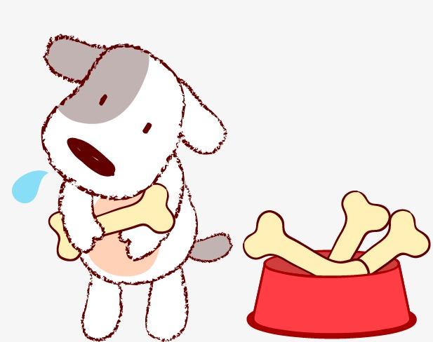 图片 卡通骨头 > 【png】 拿骨头的狗狗  分类:手绘动漫 类目:其他