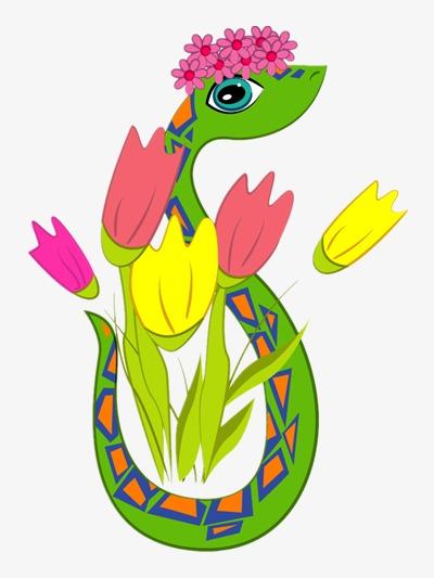 图片 > 【png】 卡通小花蛇  分类:手绘动漫 类目:其他 格式:png 体积