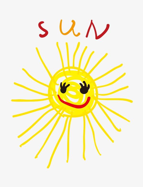 矢量手绘小太阳