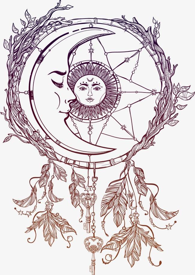 手绘月亮梦网