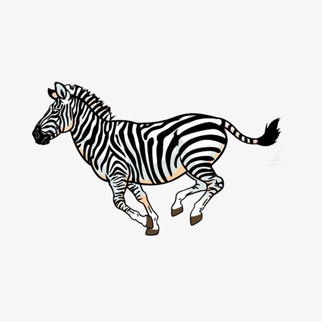 斑马 黑白 卡通 手绘 动物             此素材是90设计网官方设计