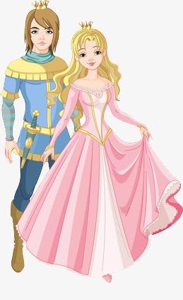 王子与公主素材图片免费下载_高清卡通手绘png_千库网