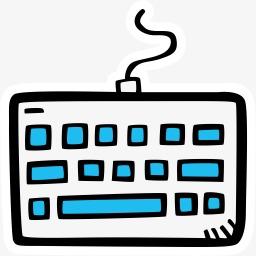 简笔画键盘素材图片免费下载 高清卡通手绘png 千库网 图片编号4069603
