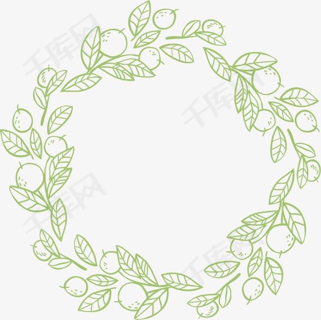花环花边手绘边框素材图片免费下载 高清装饰图案png 千库网 图片编号4081842图片