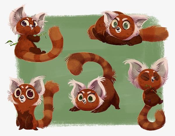 手绘长毛可爱猫咪