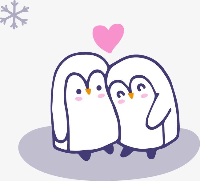 可爱的手绘企鹅