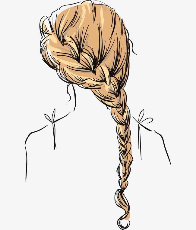 手绘美女发型