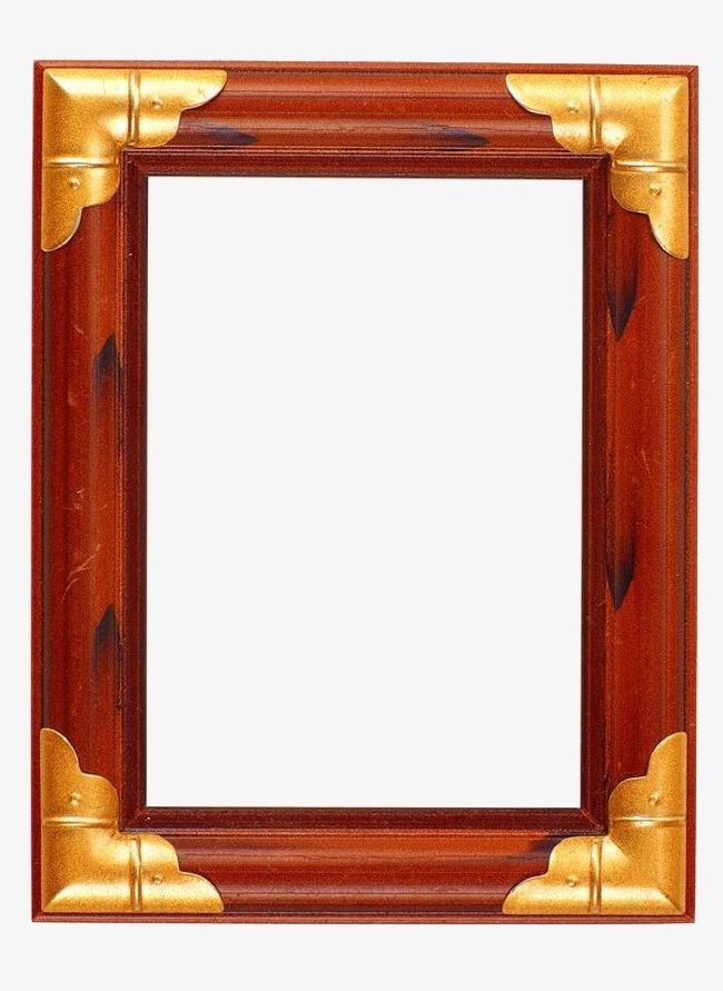 金属边木质相框素材图片免费下载_高清装饰图案png_千