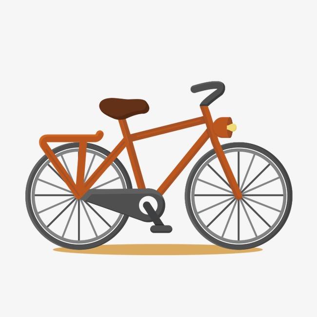 手绘卡通自行车矢量素材