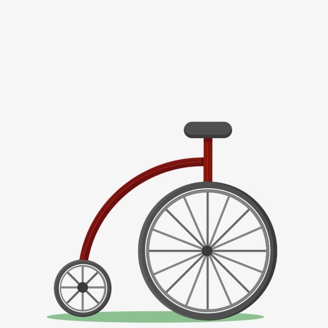 手绘独轮自行车矢量素材