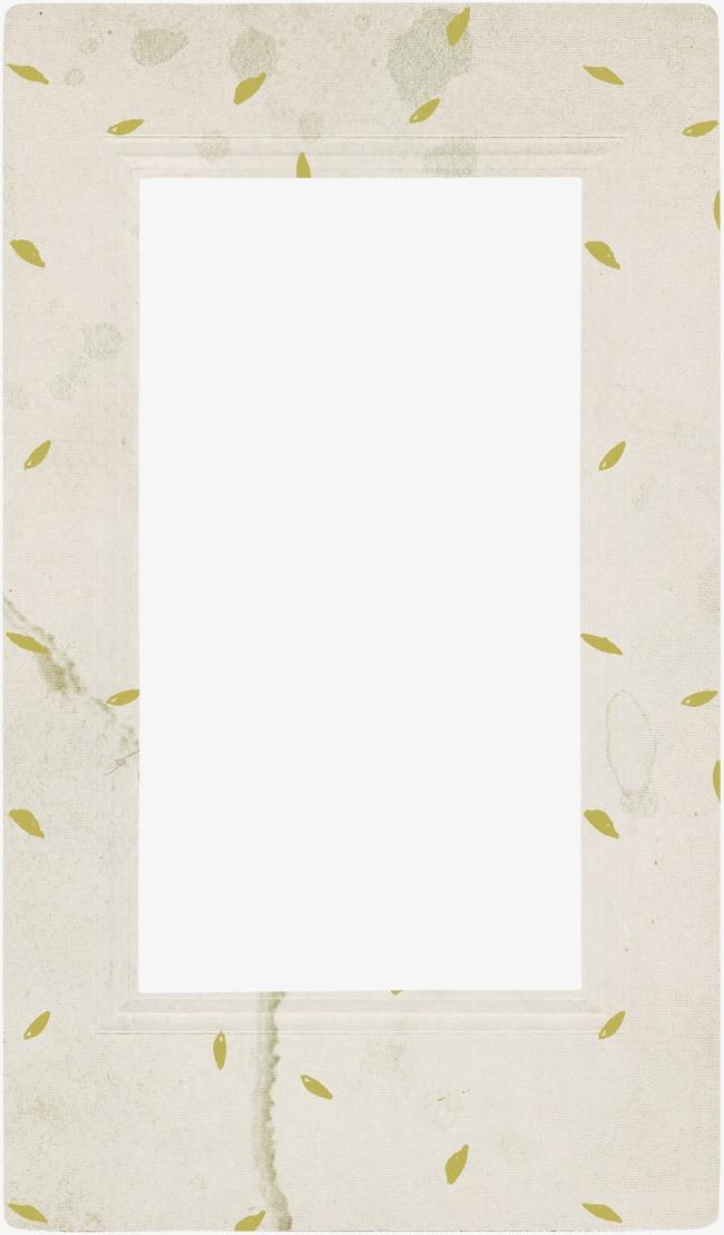 树叶印花相框