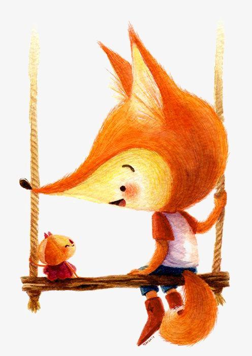 手绘可爱小狐狸