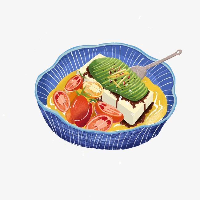 卡通手绘番茄汤